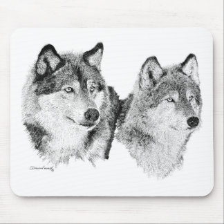 Loups solitaires tapis de souris