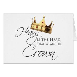 Lourde est la tête qui utilise la couronne carte de vœux