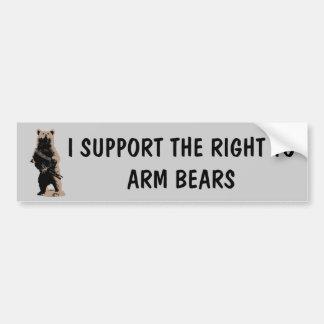 L'ours arme l'ours gris autocollant pour voiture
