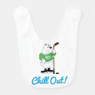 L'ours blanc d'hockey refroidissent le nourrisson bavoirs