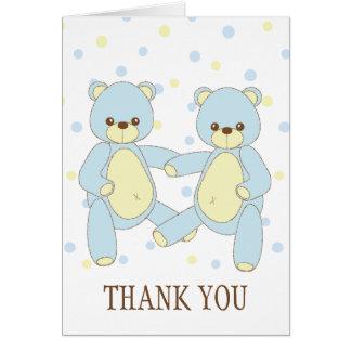 L'ours de nounours jumelle le carte pour notes de