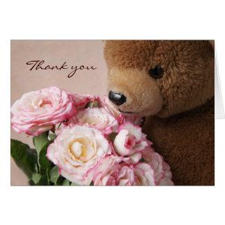 l'ours de nounours sent le carte de remerciements
