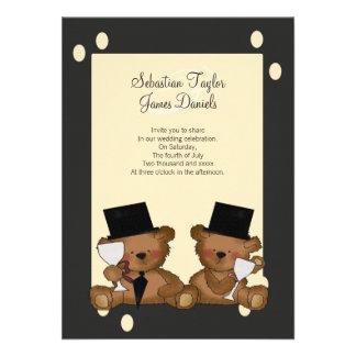 L'ours de nounours toilette le mariage faire-part