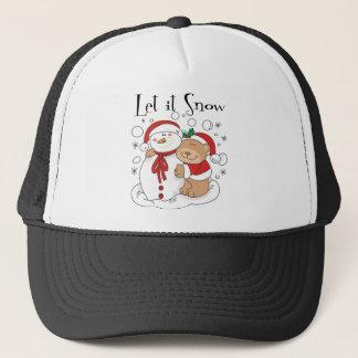 L'ours et le bonhomme de neige de Père Noël l'ont Casquette