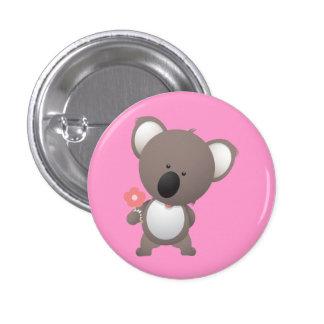 L'ours soutient l'animal mignon de bande dessinée  badge rond 2,50 cm