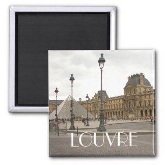 Louvre. Paris, France Magnet Carré