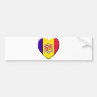 Love drapeau Andorre Autocollant Pour Voiture