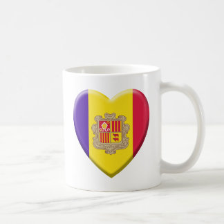 Love drapeau Andorre Mug Blanc