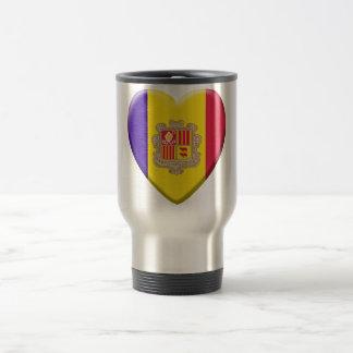 Love drapeau Andorre Mug De Voyage En Acier Inoxydable