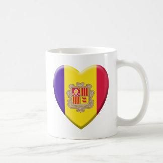 Love drapeau Andorre Mug À Café