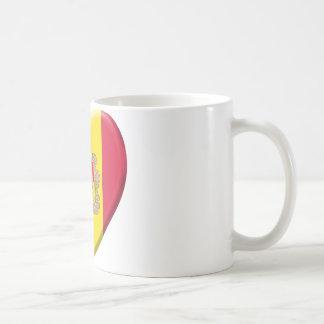 Love drapeau Andorre Tasse À Café