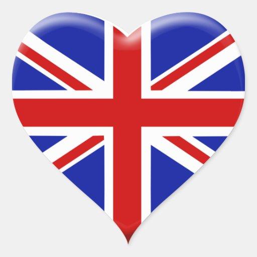 love drapeau Angleterre Autocollants