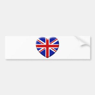 love drapeau Angleterre Autocollant De Voiture