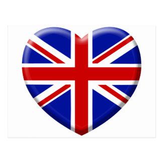 love drapeau Angleterre Cartes Postales