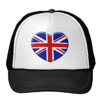 love drapeau Angleterre Casquettes De Camionneur