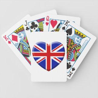 love drapeau Angleterre Jeu De Cartes