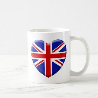 love drapeau Angleterre Mug Blanc