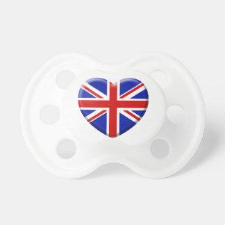love drapeau Angleterre Sucettes Pour Bébé