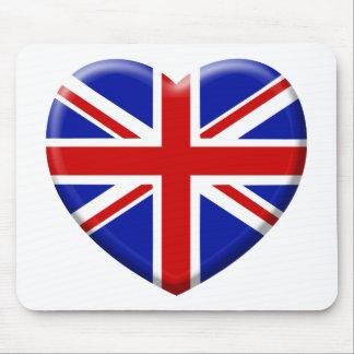 love drapeau Angleterre Tapis De Souris