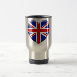 love drapeau Angleterre Mug De Voyage En Acier Inoxydable
