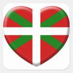 love drapeau pays Basque Adhésif