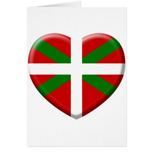 love drapeau pays Basque Carte