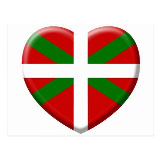 love drapeau pays Basque Cartes Postales