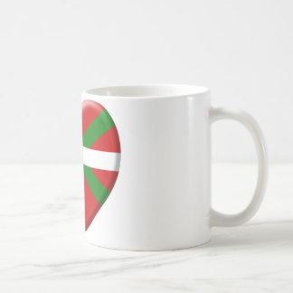 love drapeau pays Basque Mug Blanc