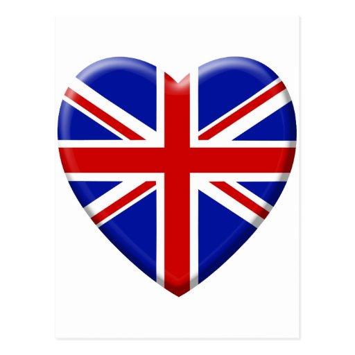 Love drapeau royaume uni angleterre carte postale zazzle - Coloriage drapeau angleterre ...