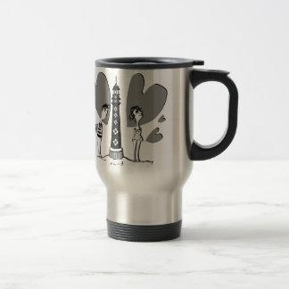 Love in Biarritz Mug De Voyage En Acier Inoxydable