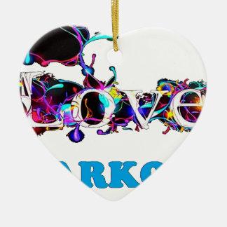 LOVE SARKO.png Ornement Cœur En Céramique