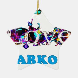 LOVE SARKO.png Ornement Étoile En Céramique