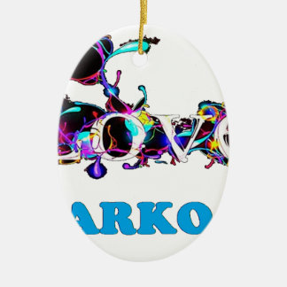 LOVE SARKO.png Ornement Ovale En Céramique