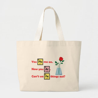 Love Story - style de chimie Sacs En Toile