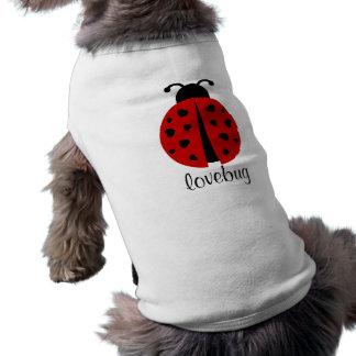 lovebug t-shirt pour chien