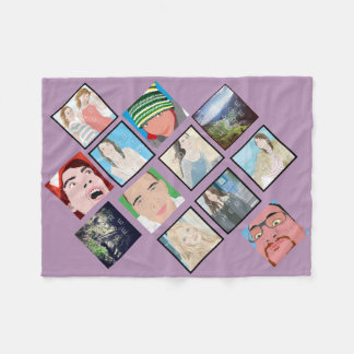 Lt Violet Fleece Blanket de photo de mosaïque