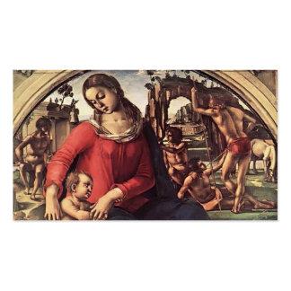 Luca Signorelli- Madonna et enfant avec des prophè Cartes De Visite Personnelles