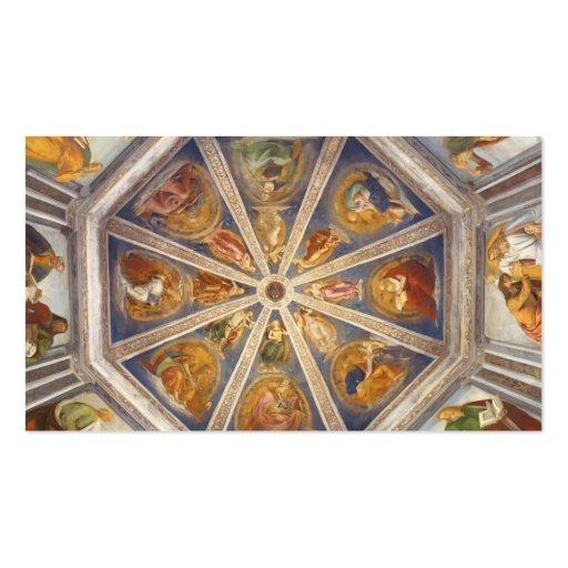 Luca Signorelli : Vue de la voûte de la sacristie Carte De Visite