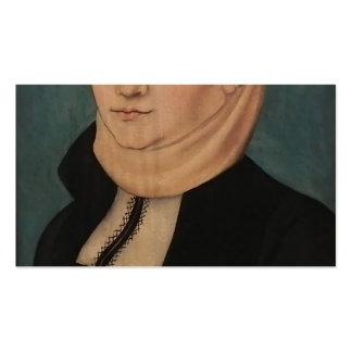 Lucas Cranach Katharina von Bora plus âgée Carte De Visite Standard