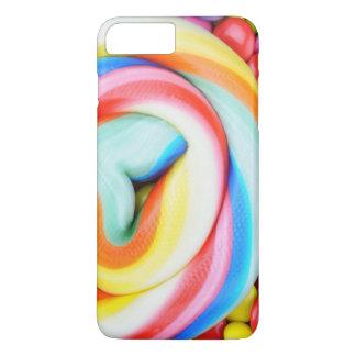 Lucette rayée et je-sais-tout multicolores coque iPhone 8 plus/7 plus
