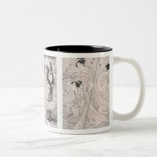 Lucioles de chasse à la tombée de la nuit, 1796-97 mug bicolore