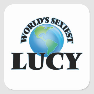 Lucy la plus sexy du monde sticker carré