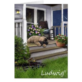 Ludwig la carte de voeux de chiot de Leonberger