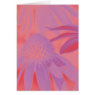 Lueur au néon #1 d'echinacée cartes