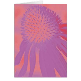 Lueur au néon de l'echinacée #3 carte de vœux
