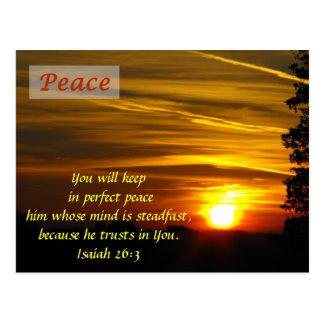 Lueur brillante - paix cartes postales