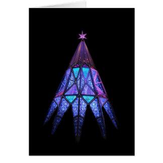Lueur de bonheur de mai à Noël, arbre Carte De Vœux