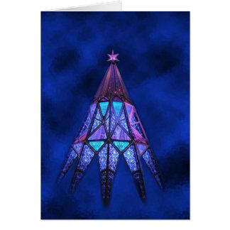 Lueur de bonheur de mai à Noël Carte De Vœux
