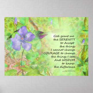 Lueur de Vinca de prière de sérénité Posters