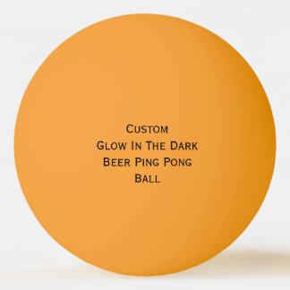 Lueur faite sur commande dans la boule de balle de ping pong